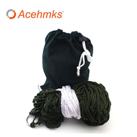Acehmks Nylon Mesh Rope Hammock Swing 260CM 80CM Outdoor Portable Ultralight Hammocks Camping Bed With Tree
