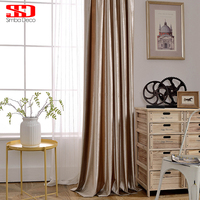 Modern Solid Blackout Curtains For Living Room Blinds Luxury Flannel Drape For Bedroom Window Treatment Shade