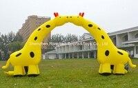Надувные 6 м Арки два Жирафы арки для детского сада сварки партии фестивалей Аксессуары с воздуха Воздуходувы