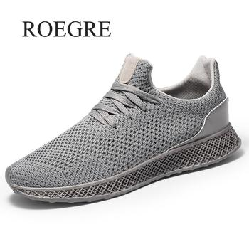 460d2337f Nuevos hombres transpirables zapatos casuales tejido hombres zapatillas  entrenadores de moda para hombres zapatos Casual hombres zapatos Tenis  Masculino ...