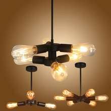 Retro Loft Nordic Pipe Wrought Iron Ceiling Lights Lamp for Living Room Bedroom Vintage lampara techo