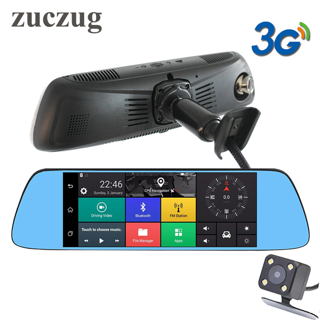 "ZUCZUG 7"" 3G Special Car DVR Camera Mirror Android 5.0 GPS Dual Lens 1080P Android mirror Dash Cam mirror Video Recorder WIFI"