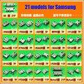 21 modelos, 2 unids cada para Samsung I9200 I9300 S5 note3 I739 N7100 S7562 8262D puerto de carga del teléfono, Micro USB jack hembra connector