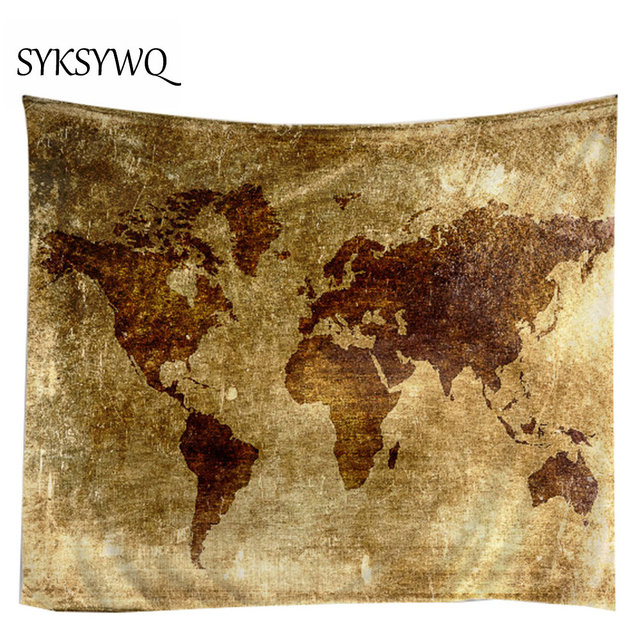 world map wall cloth tapestries hot sale new arrival drop shipping