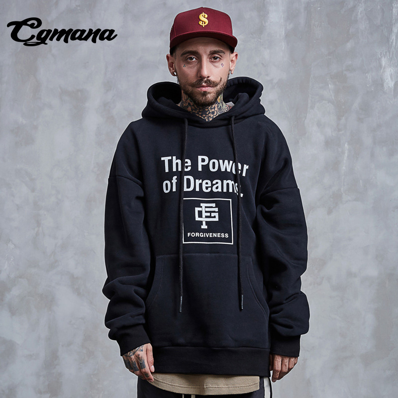 CGmana Hoodies Man Two Wear Swearshirt High-street personality Couple Long-Sleeved Hooded Pullover Cotton Hip Hop Streetwear ...