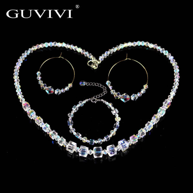2019 Luxury Fashion Crystal Drop Earrings Choker Necklaces Set For Women Engagement Wedding Jewelry Sets Gift NE+BR+EA