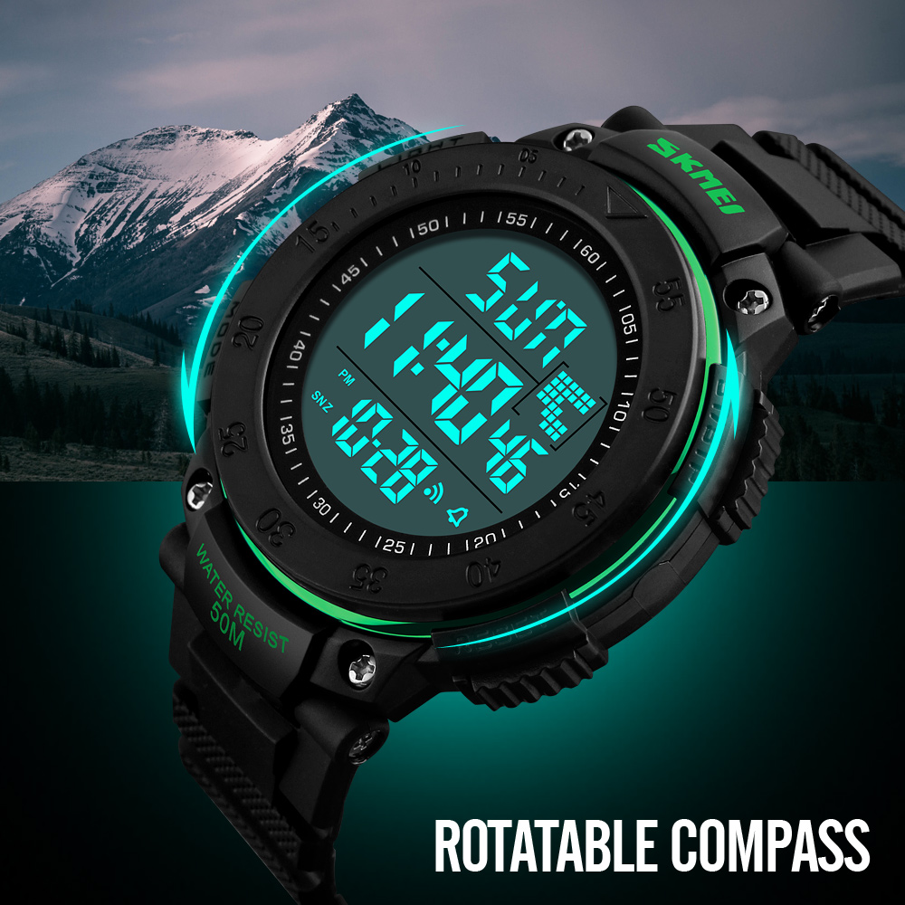 Watches Digital Watches Skmei Brand Mens Sports Watches Chrono Countdown Double Time Watch Men Waterproof Digital Watch Military Clock Relogio Masculino Aromatic Character And Agreeable Taste