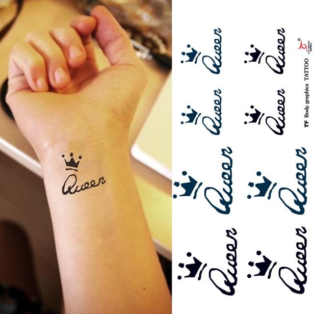 Temporary Tattoo Stickers Body Arm Wrist Queen Crown Fake Art
