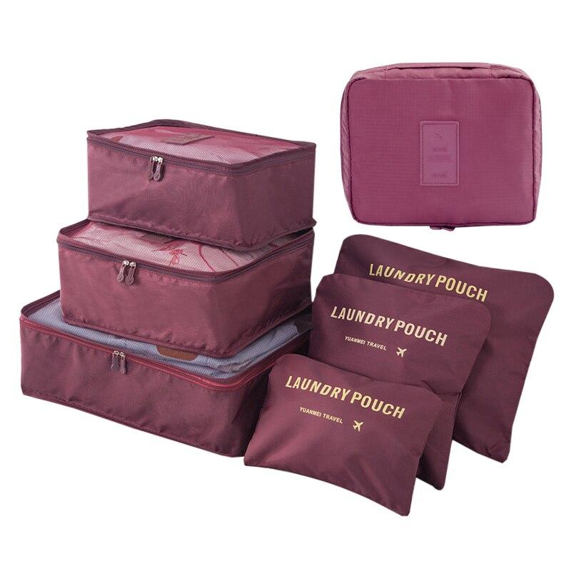 Waterproof Clothes Shoe Makeup Bag Set Wardrobe Closet Organizer Cosmetics Underwear Tidy Suitcase Luggage Accessories Supplies
