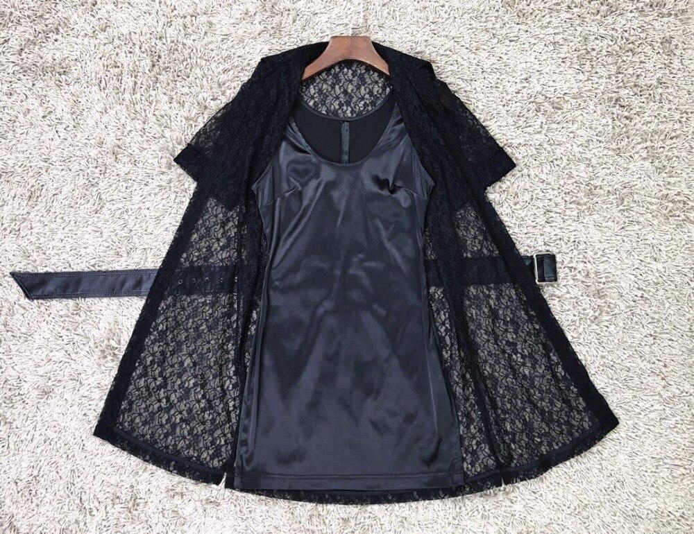 Faux Ddxgz3 Dentelle 2019 Printemps Nouveau Robe En Mince Pièces Deux Femmes vwvtFnSr0q