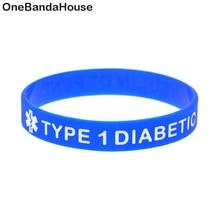 1PC Debossed Type 1 Diabetic Insulin Dependent Classic Silicone Bracelet