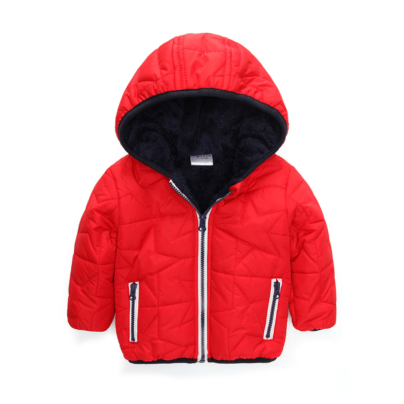 ФОТО winter 6-24 months baby outwear jacket for kids brand baby girl coat hoody children winter baby boy clothes