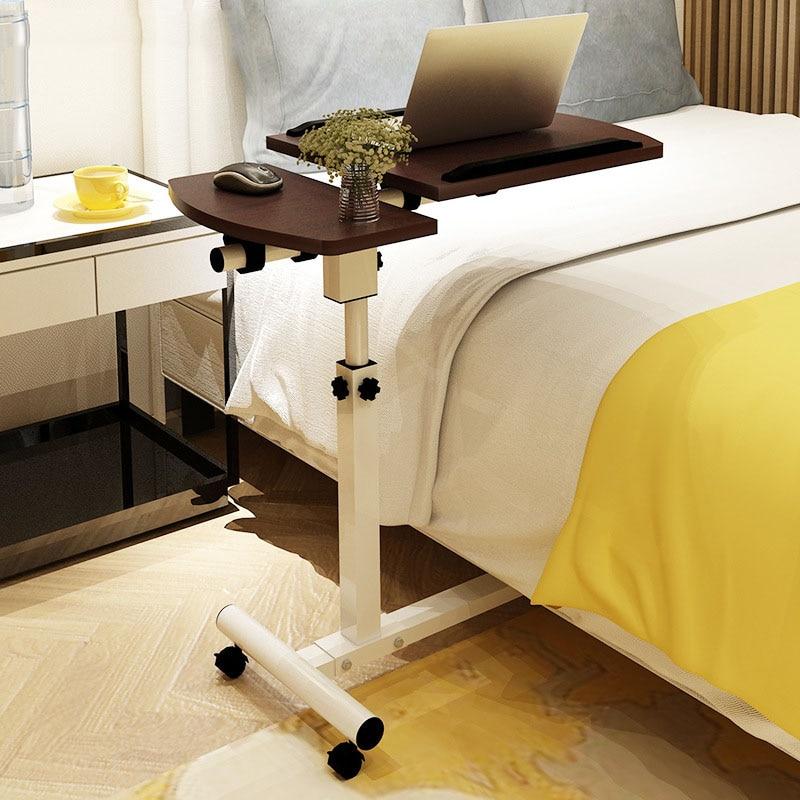 Подъема мобильный компьютерный стол прикроватные диван кровать Тетрадь настольная подставка Таблица обучение стол складной стол ноутбук регулируемый стол