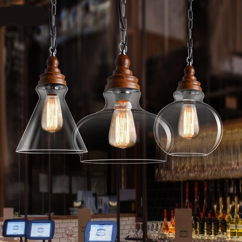 The first blessing designer pendant lamp New Nordic American country pastoral Bar retro wood glass pendant lightlighting GY147 свитшот print bar the first avenger