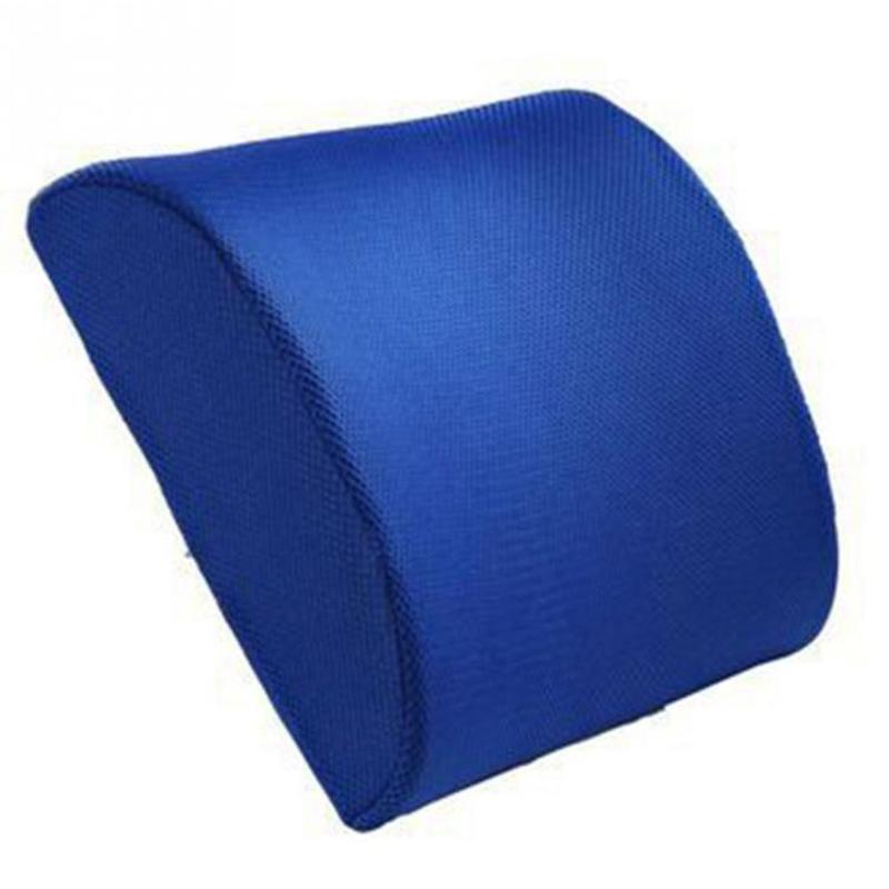 Blue Memory Foam Lumbar Back Support Cushion Pillow Auto Accessories For Chairs In The Car Seat Pillows Home Office Relieve Pain
