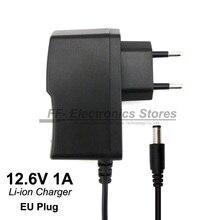 Power supply 12 V 1A / 12.6 V 1A AC 100-240 V Converter adapter Eu plug For battery park and LED light.