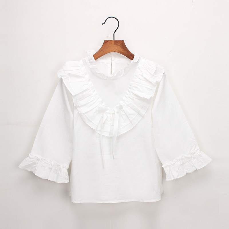45-13-baby girl ruffles Solid blouses