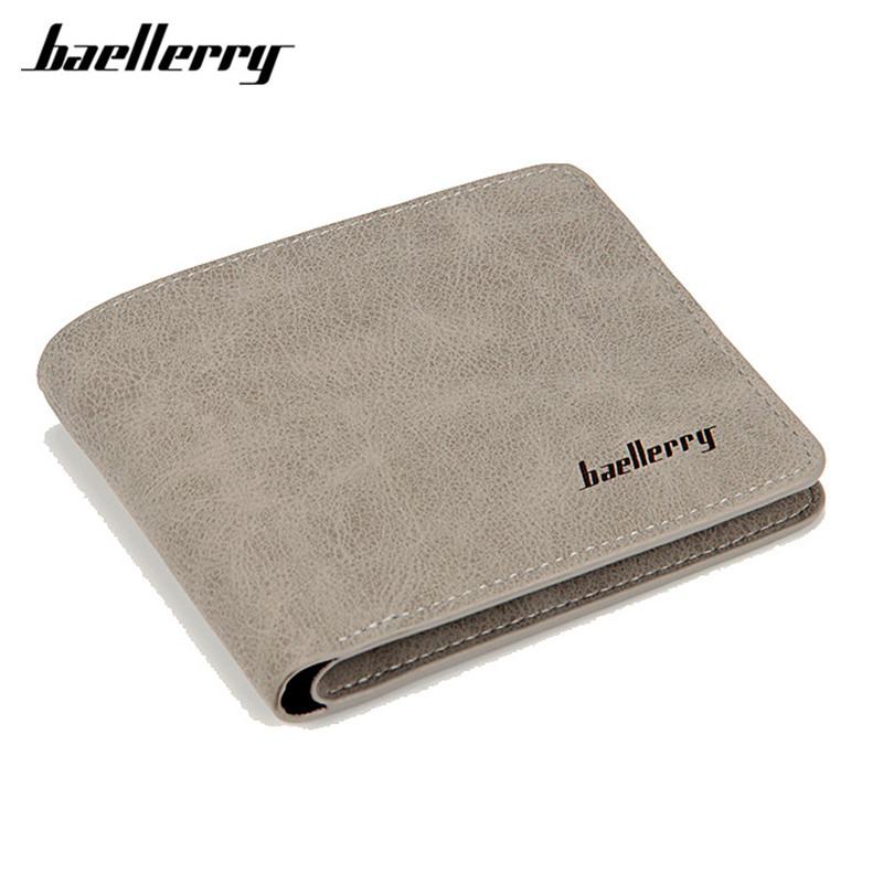 Baellerry 2017 men wallets mens wallet small money purses Wallets New Design Dollar Price Male Wallet Purse with zipper Coin Bag цена