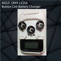 High Quality AG13 LR44 L1154 LR44 303 RW32 V303 357AA Coin Button Cell Battery Charger EU