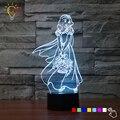 Princesa de la Nieve Blanco Lámpara de Mesa de Noche de Luz LED 7 Que Cambia de Color 3D Decoración Del Hogar de la Lámpara de la Sala de Iluminación de Navidad USB cargador