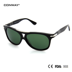 CONWAY rétro lunettes de soleil polarisées UV Protection marque haut de marque Bar lunettes de soleil miroir lentille hommes femmes nuances lunettes