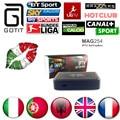 Caixa de IPTV IPTV Italiano 1500 + Canais Europa HotClub MAG254 XXX Itália Portugal França REINO UNIDO Linux 2.6.23 STiH207 MAG 254 Conjunto Superior caixa