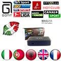 MAG254 Caja IPTV IPTV 1500 + Europa Canales HotClub XXX Italia Italiano Portugal Francia REINO UNIDO Linux 2.6.23 STiH207 MAG 254 Unidades Superior caja