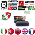 MAG254 IPTV Box Italian IPTV 1500+Europe Channels HotClub XXX Italy Portugal France UK Linux 2.6.23 STiH207 MAG 254 Set Top Box