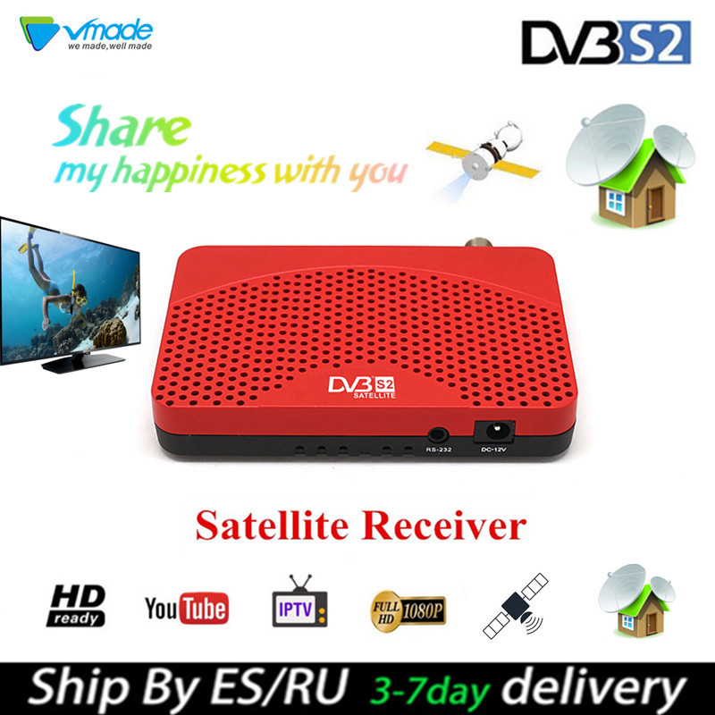 VMADE NEWEST SET TOP TV BOX Satellite Receiver DVB S2 Mini Have WIFI Function Support IPTV BissKey CCcam Newcam Youtube USB WIFI