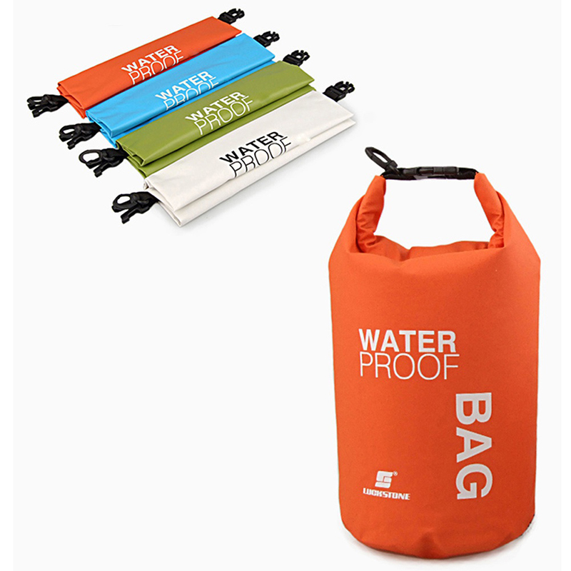 2L Camping Hiking PVC Waterbag Waterproof Bag Camping Dry Bags Outdoor Traveling Ultralight Rafting Bag Waterproof Box