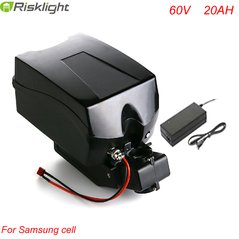 60v 2000w electric bike 60v 20ah lithium battery with BMS +charger+Frog case For Samsung Cell