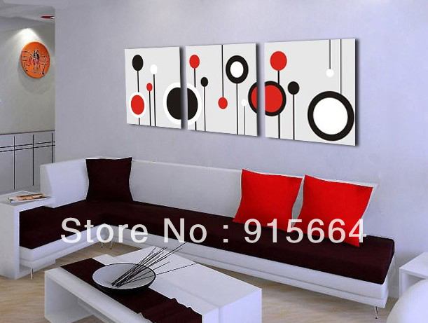 Gifts Home Decor Free Shipping Garden 3Panels Hot Modern Abstract Painting On Canvas Living Room Paint