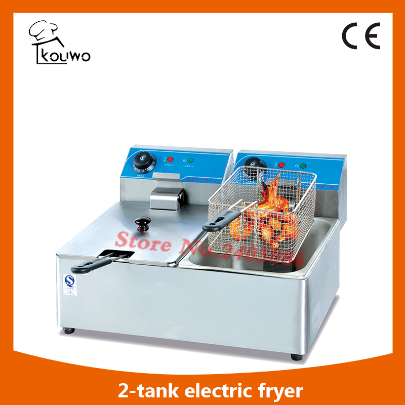 commercial restaurant catering equipment chicken deep electric deep fryer with 2 tanks  ( (KW-F6L.2) new restaurant equipment wireless buzzer calling system 25pcs table bell with 4 waiter pager receiver