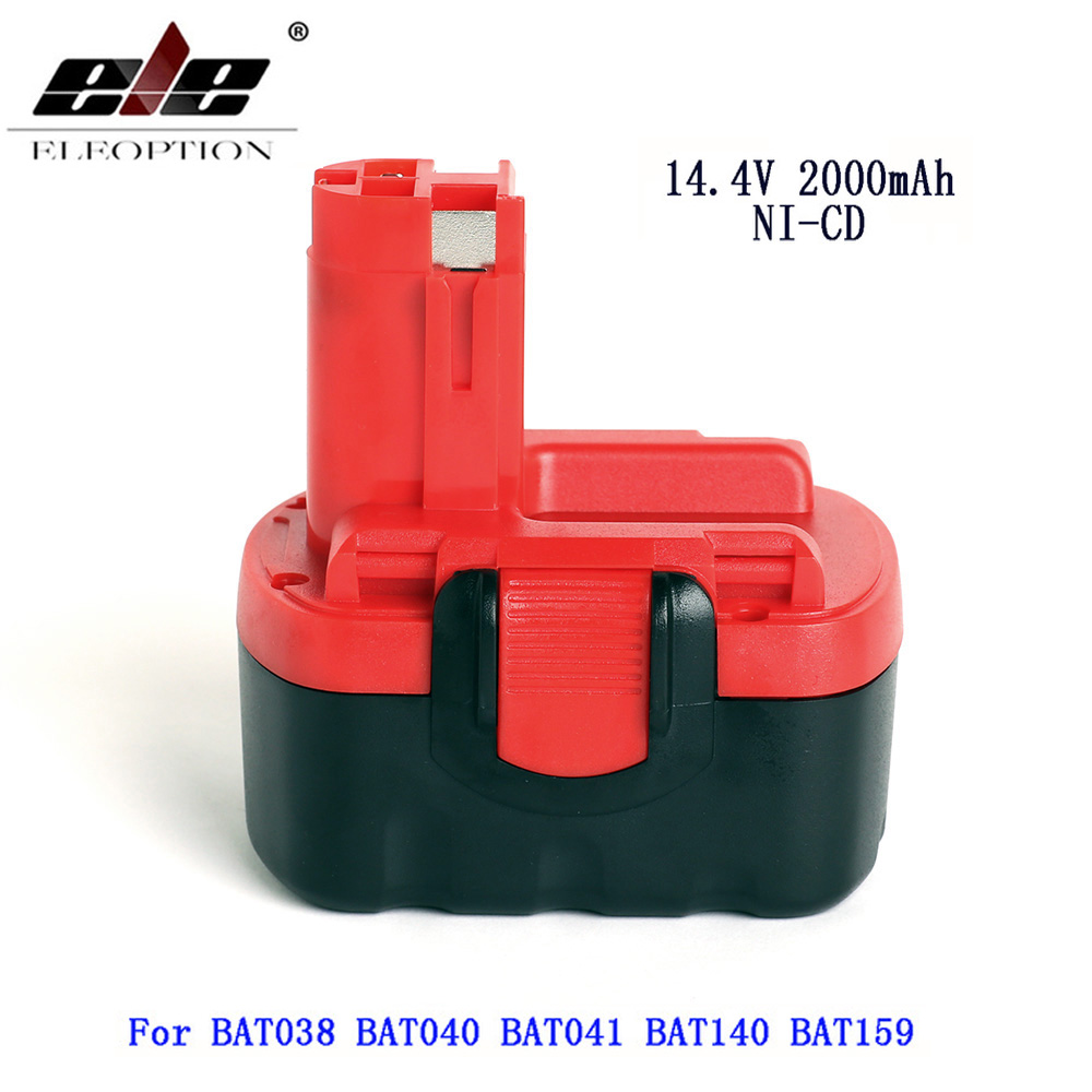 BAT038 14.4V 2000mAh Rechargeable Battery For Bosch 14.4V Battery BAT038 BAT040 BAT140 BAT159 BAT041 3660K NI-CD