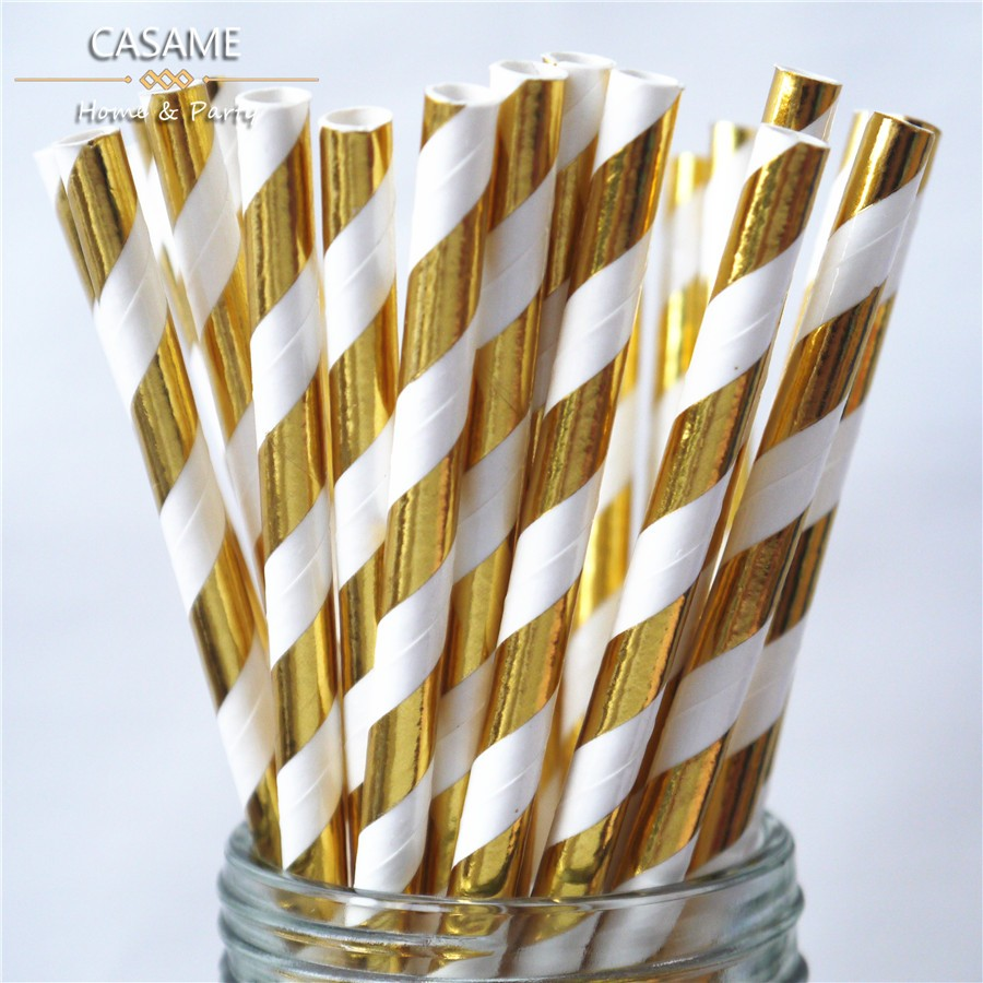 Assorted-Designs-of-7-75-Metallic-Gold-Foil-Stripe-Paper-Straws-in-OPP-Gold-Foil-Stripe-5