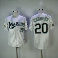 MLB Men S Florida Marlins Miguel Cabrera Dontrelle Willis Jerseys 2003 WS White Stitched Throwback Baseball