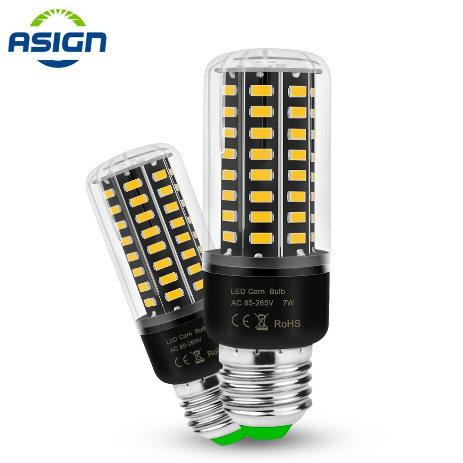 E27 LED Lamp Light <font><b>AC</b></font> 110V 220V E14 LED Corn Bulb 5736 SMD 3.5 5 7 8 <font><b>12</b></font> 15W Ampoule Lights Warm White / Cold White For Indoor image