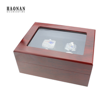 Top Grade 1,2,3,4,5,6 Holes New Championship Rings Box in Jewelry Packaging & Display,Red Wooden Jewelry Box For Ring Display