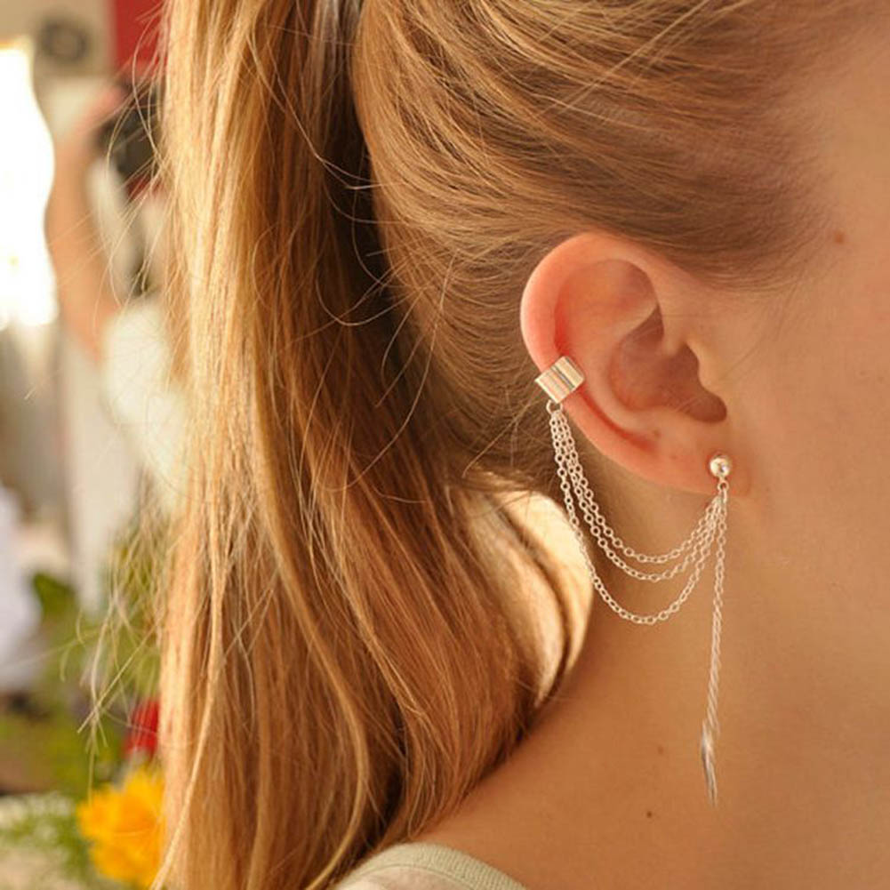 Personality Fish Line Earrings Simple Fashion Metal Design Feeling Ear Line