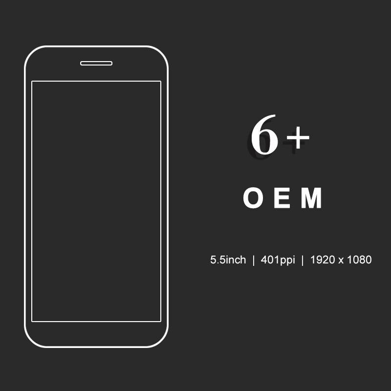 100% pas de Pixel mort OEM assemblée complète LCD pour iPhone 6 Plus écran affichage assemblée avec numériseur + support de caméra + cadre