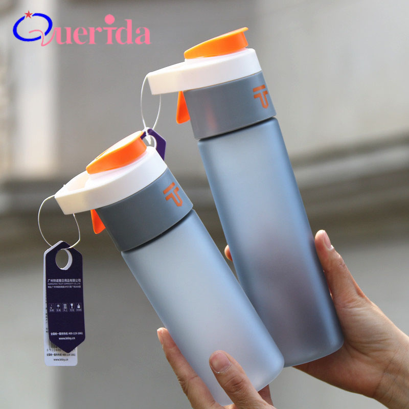 Handle Bounce Leak Proof Sports Water Bottle Frosted Portable My Favorite Bottle Outdoor Camping Hiking Drink Bottle BPA Free