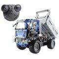 2.4G Remote Control Dump Truck Building Blocks Assembled RC Vehicles DIY 3D Puzzle Construction Educational Toy