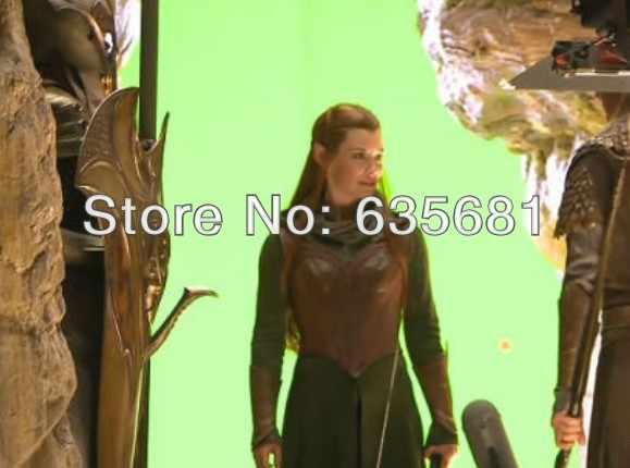 Cos hobbit elf ii 2 pertempuran smaug tauriel woodland head dari Mirkwood Elven Penjaga Captain Cos Cosplay Kostum Pakaian Set