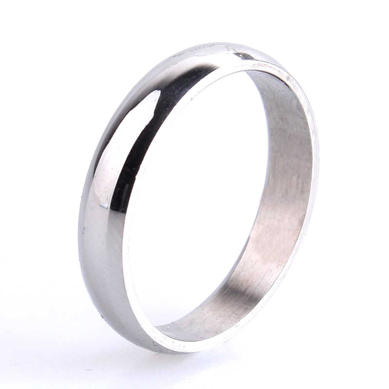 free shipping 3mm Silver Smooth 316L Stainless Steel wedding rings for women men wholesale
