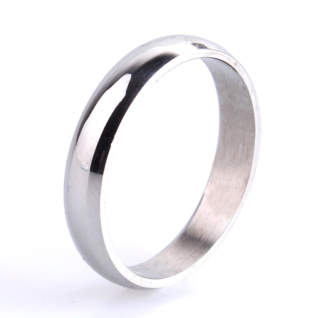 free shipping 3mm Silver Smooth 316L Stainless Steel wedding rings for women men