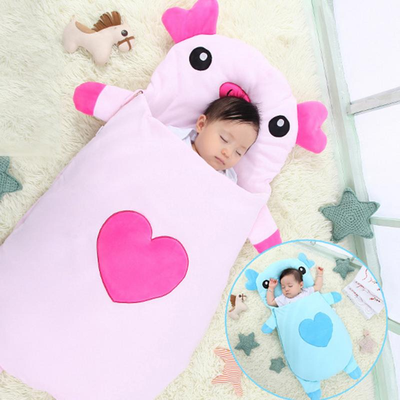 Baby Infant Cartoon Pig Sleeping Bag Winter Envelope For Newborns Sleep Thermal Sack Cotton Kids Sleep Sack baby sleeping bag winter envelope for newborns sleep thermal sack cotton kids sleep sack in the baby cart blanket