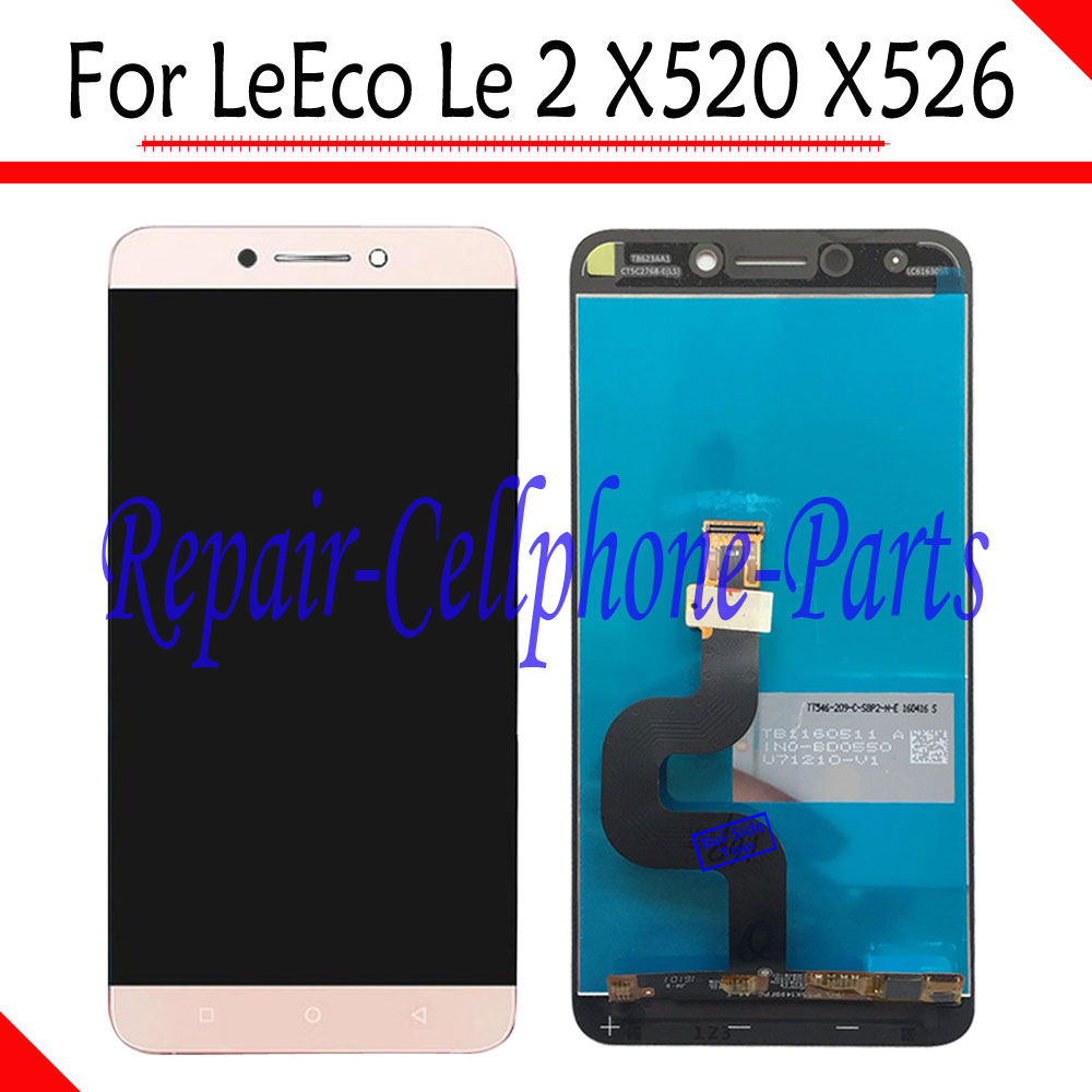 Gold 100% New Full LCD DIsplay + Touch Screen Digitizer Assembly For LeTV LeEco Le 2 X520 X526 TD-LTE Free ShippingGold 100% New Full LCD DIsplay + Touch Screen Digitizer Assembly For LeTV LeEco Le 2 X520 X526 TD-LTE Free Shipping