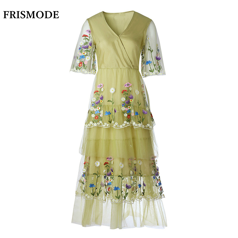 Pistachio Womens Floral Casual Dress