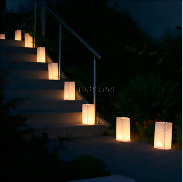 new 10pcs star type paper candle lantern candle bag for christmas party home decoration wedding candles paper lanterns