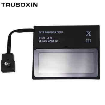 цена на Solar auto darkening/shading TIG MMA MIG MAG welding filter lens of welding mask/goggles welding helmet/welder cap